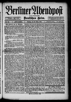 Berliner Abendpost on Mar 26, 1895