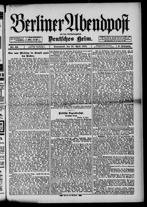 Berliner Abendpost vom 20.04.1895