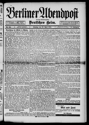 Berliner Abendpost on Apr 23, 1895