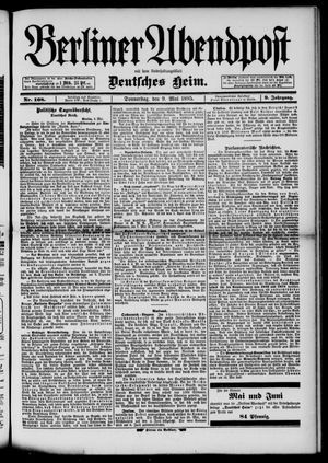 Berliner Abendpost on May 9, 1895