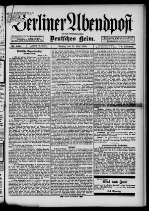 Berliner Abendpost on May 10, 1895