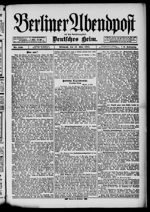 Berliner Abendpost on May 15, 1895