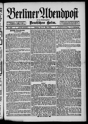 Berliner Abendpost vom 17.05.1895