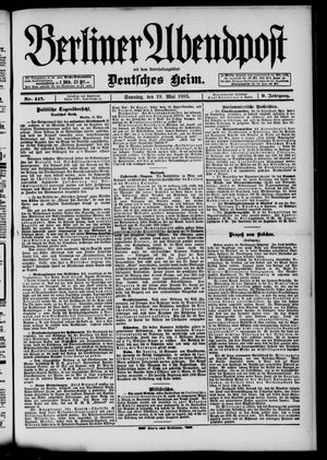 Berliner Abendpost on May 19, 1895