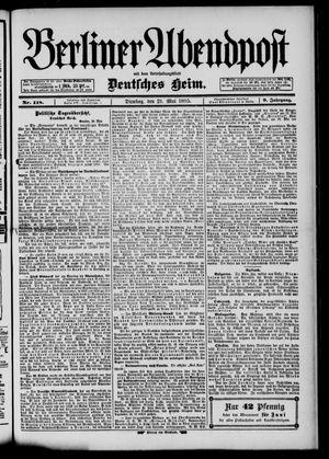 Berliner Abendpost vom 21.05.1895