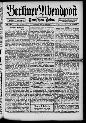 Berliner Abendpost on Jun 6, 1895
