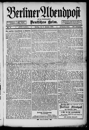 Berliner Abendpost on Jan 3, 1896