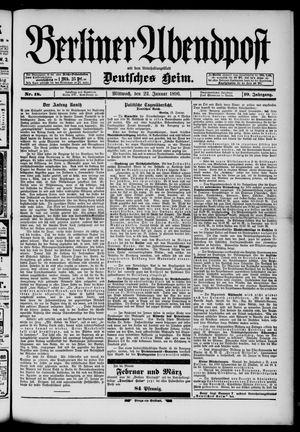 Berliner Abendpost on Jan 22, 1896