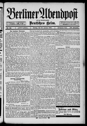 Berliner Abendpost on Jan 24, 1896