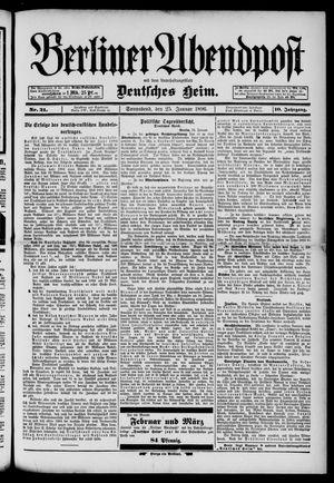 Berliner Abendpost on Jan 25, 1896