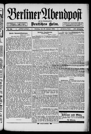 Berliner Abendpost on Jan 28, 1896