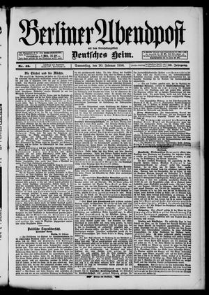 Berliner Abendpost on Feb 20, 1896