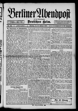 Berliner Abendpost on Feb 23, 1896