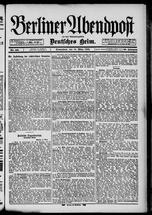 Berliner Abendpost on Mar 14, 1896