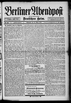 Berliner Abendpost on Mar 18, 1896