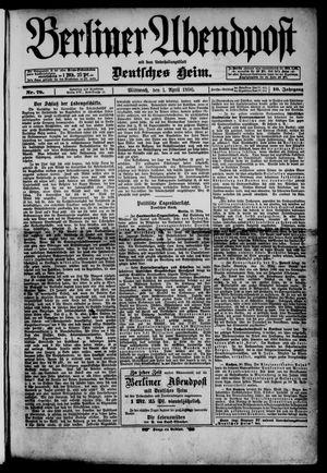 Berliner Abendpost on Apr 1, 1896