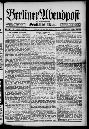 Berliner Abendpost on May 13, 1896