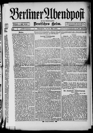Berliner Abendpost on May 16, 1896