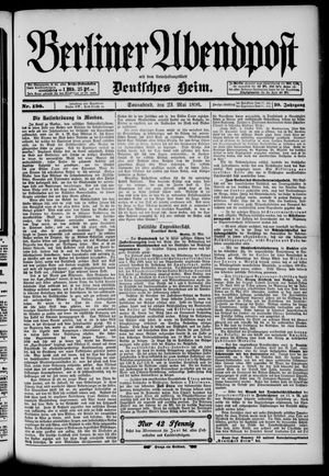 Berliner Abendpost on May 23, 1896