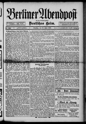 Berliner Abendpost on Jun 16, 1896