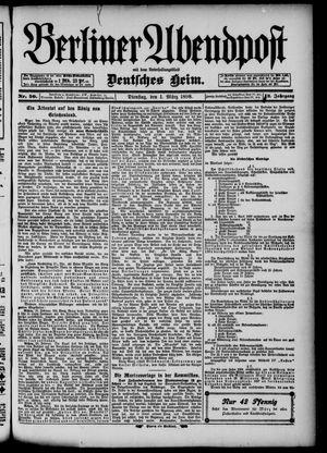 Berliner Abendpost on Mar 1, 1898