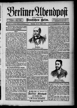 Berliner Abendpost on Apr 10, 1898