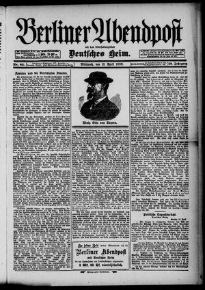 Berliner Abendpost on Apr 13, 1898