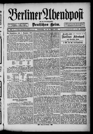 Berliner Abendpost on Apr 14, 1898