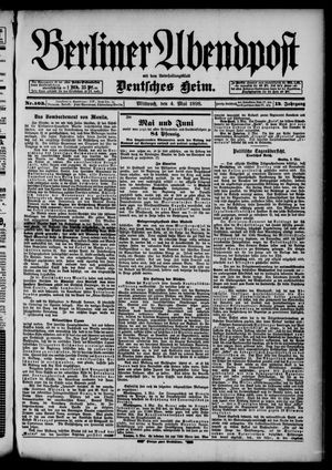 Berliner Abendpost on May 4, 1898
