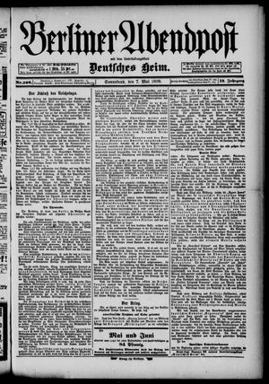 Berliner Abendpost on May 7, 1898