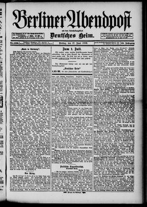 Berliner Abendpost on Jun 17, 1898