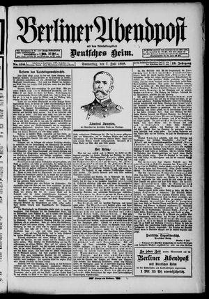 Berliner Abendpost on Jul 7, 1898