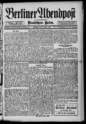 Berliner Abendpost on Jul 13, 1898