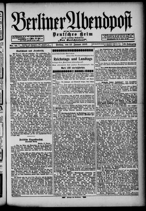 Berliner Abendpost on Jan 13, 1899