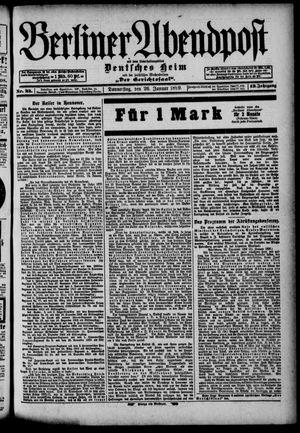 Berliner Abendpost on Jan 26, 1899