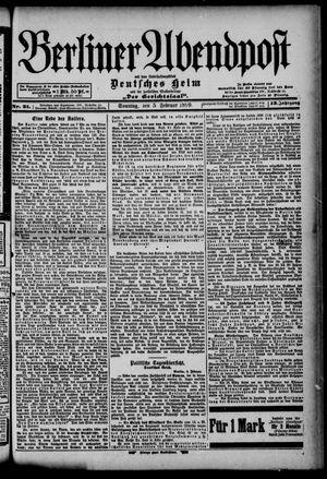 Berliner Abendpost on Feb 5, 1899