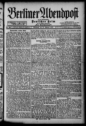 Berliner Abendpost on Feb 15, 1899