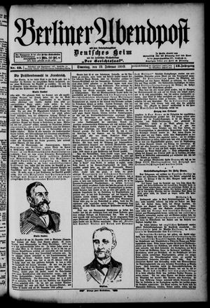 Berliner Abendpost on Feb 19, 1899