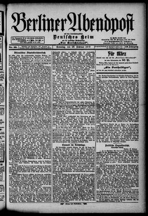 Berliner Abendpost on Feb 26, 1899