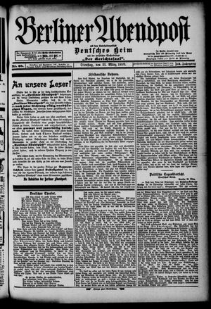 Berliner Abendpost on Mar 21, 1899