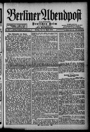 Berliner Abendpost on Apr 14, 1899