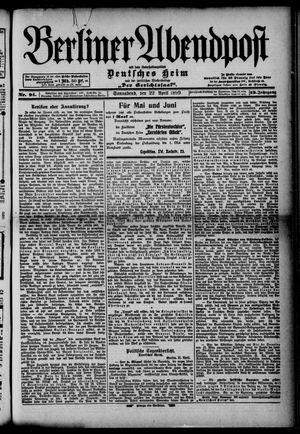 Berliner Abendpost on Apr 22, 1899