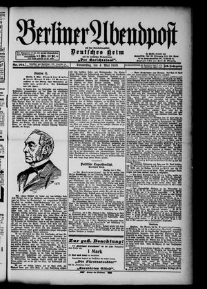 Berliner Abendpost on May 4, 1899