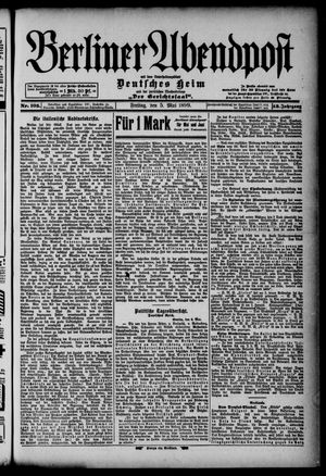 Berliner Abendpost on May 5, 1899