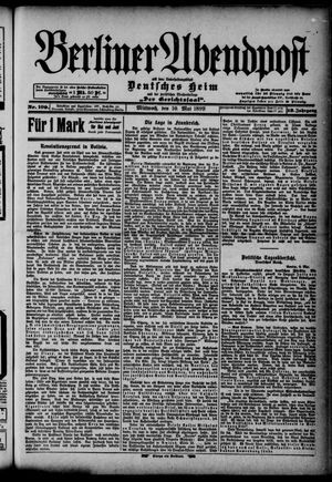 Berliner Abendpost on May 10, 1899