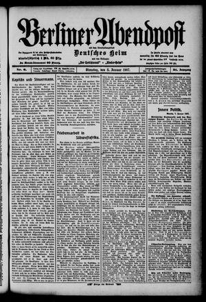 Berliner Abendpost on Jan 8, 1907