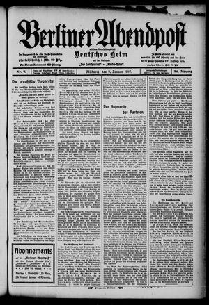 Berliner Abendpost on Jan 9, 1907