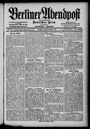 Berliner Abendpost on Jan 25, 1907