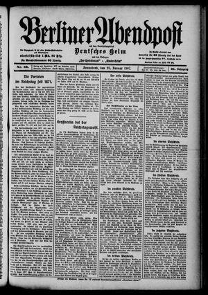 Berliner Abendpost on Jan 26, 1907