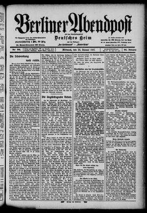 Berliner Abendpost on Jan 30, 1907